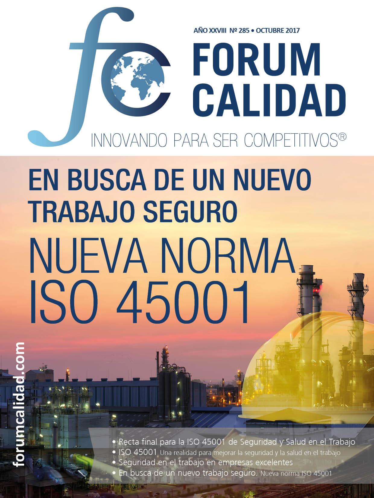Forum Calidad nº 285 Octubre 2017