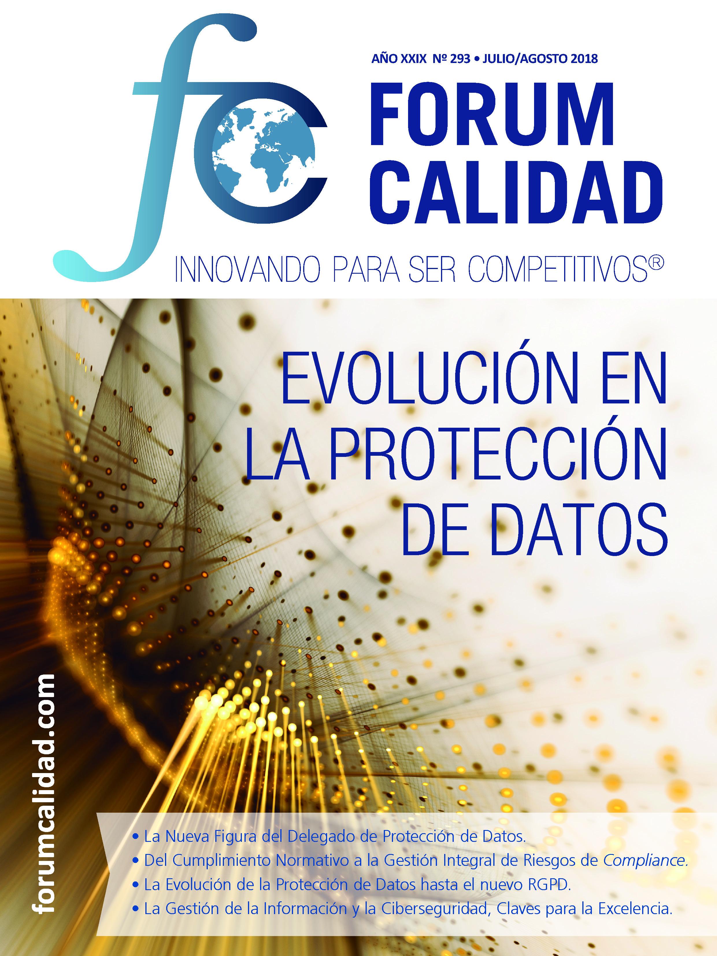 Forum Calidad nº 293 Julio/Agosto 2018